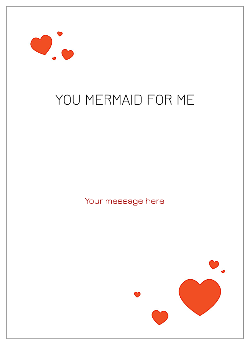 You Mermaid for Me back - Invitation Cards Maker