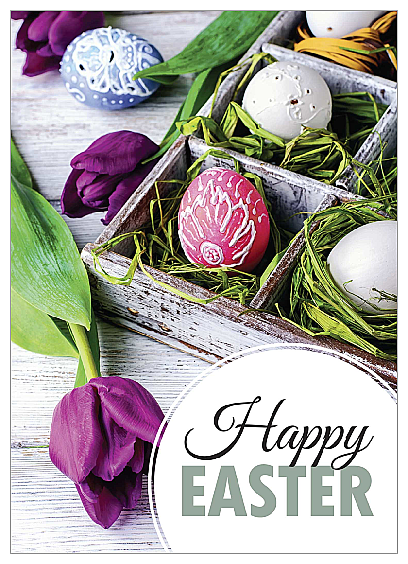 Tulips for Easter front - Invitation Cards Maker