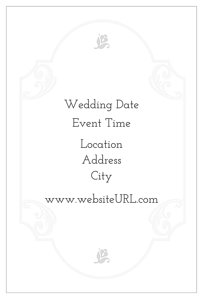 Floral Wedding back - Invitation Cards Maker