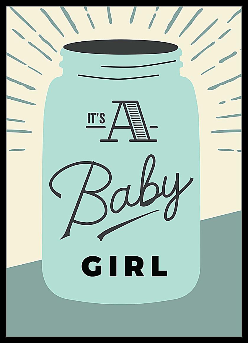 Raindrops Baby front - Invitation Cards Maker