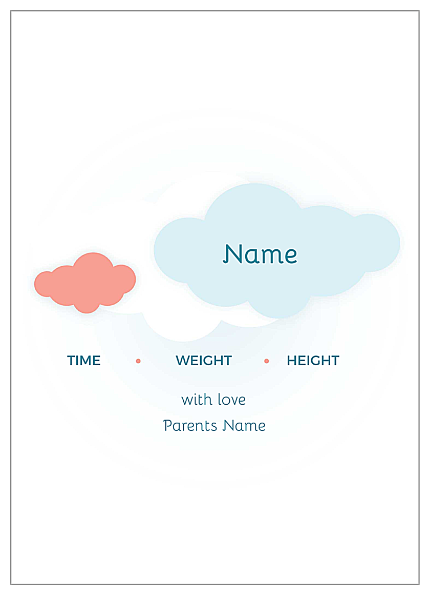 Baby Clouds back - Invitation Cards Maker