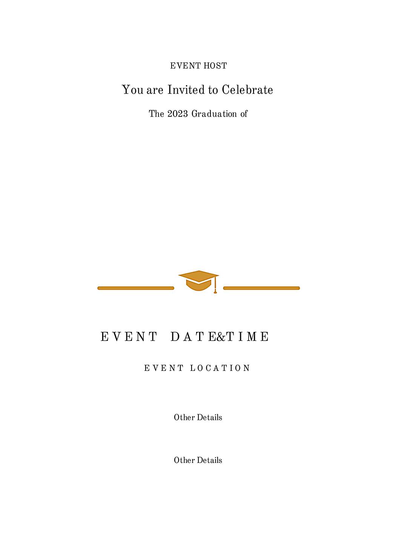 Ivy League Grad back - Invitation Cards Maker