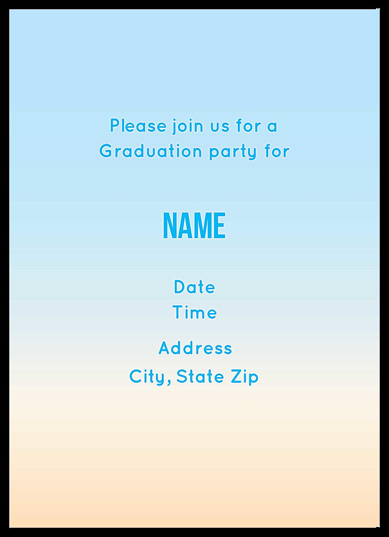 Grad Cap Party back - Invitation Cards Maker