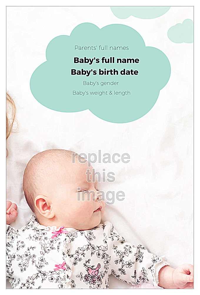 Raindrops Baby back - Invitation Cards Maker