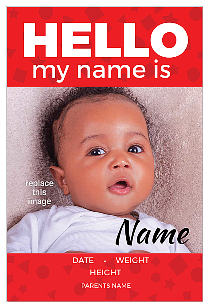 Hello my name is front - Invitation Cards Maker