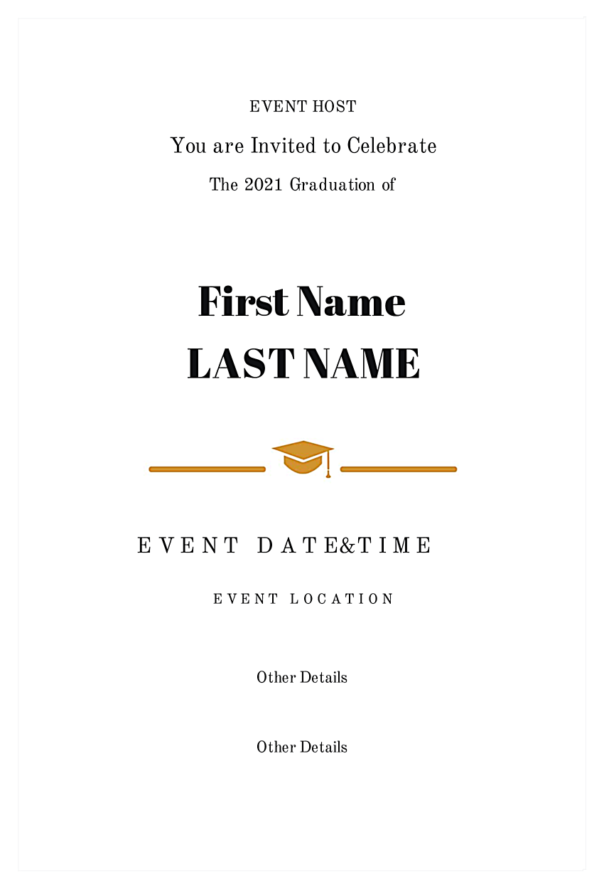Ivy League Grad back - Invitation Cards Maker