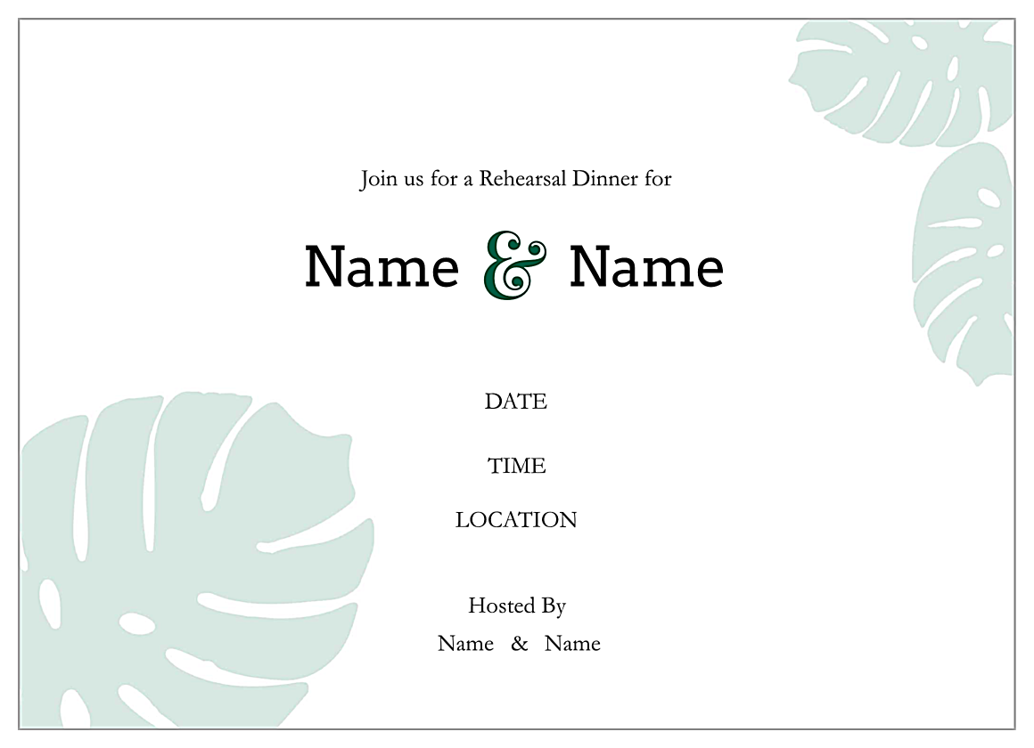 Rehearse Your Lines back - Invitation Cards Maker
