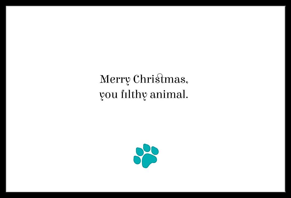 Doggy Antlers back - Invitation Cards Maker