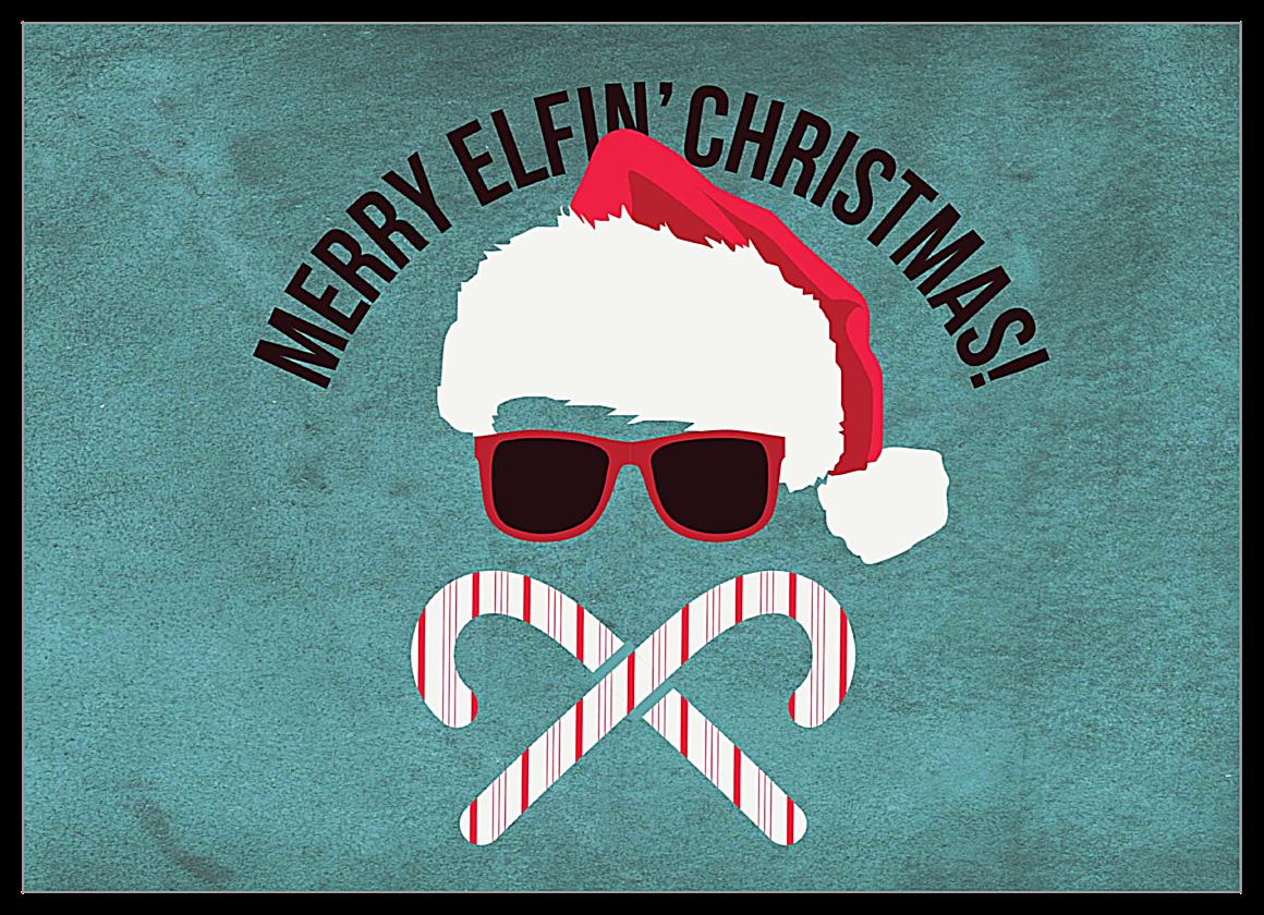 Merry Elfin' Christmas front - Invitation Cards Maker
