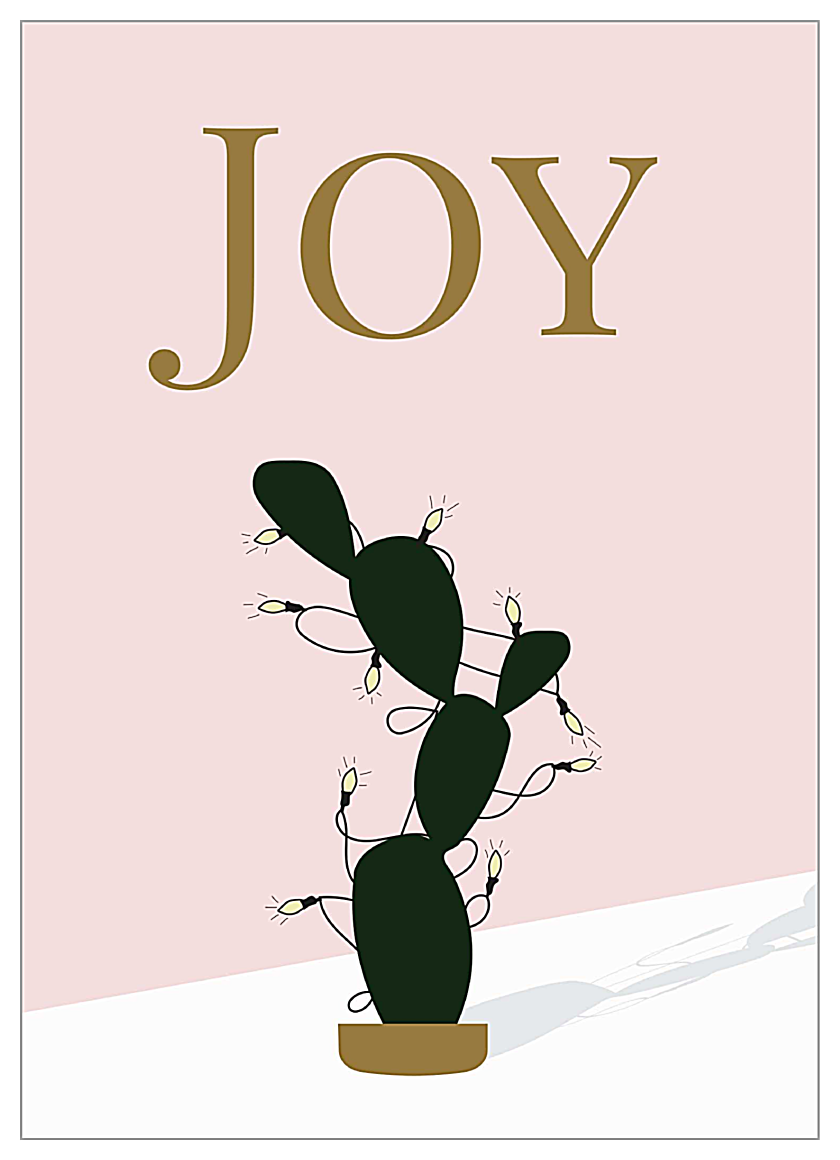 Joyful Christmas Cactus front - Invitation Cards Maker
