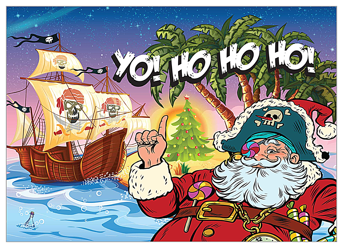 Santa Yo front - Invitation Cards Maker