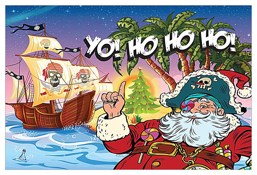 Santa Yo front - Invitation Cards Maker