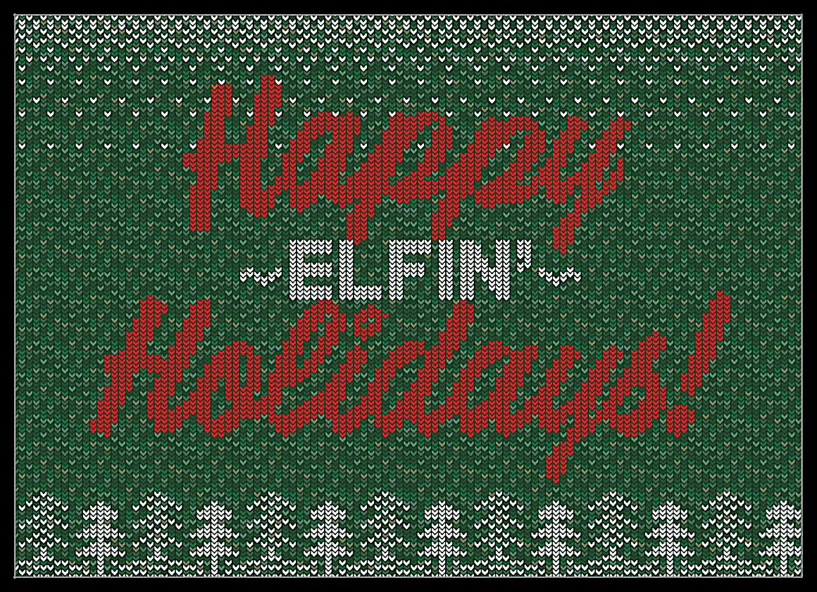 Happy Elfin' Holidays front - Invitation Cards Maker