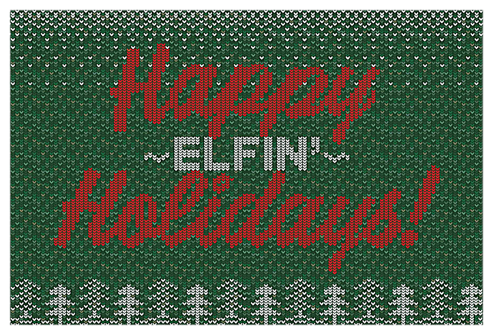 Happy Elfin' Holidays front - Invitation Cards Maker