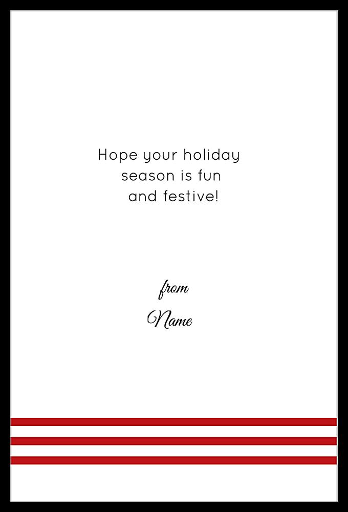 Striped Wreath back - Invitation Cards Maker
