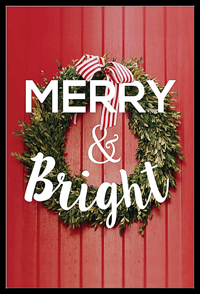 Striped Wreath front - Invitation Cards Maker