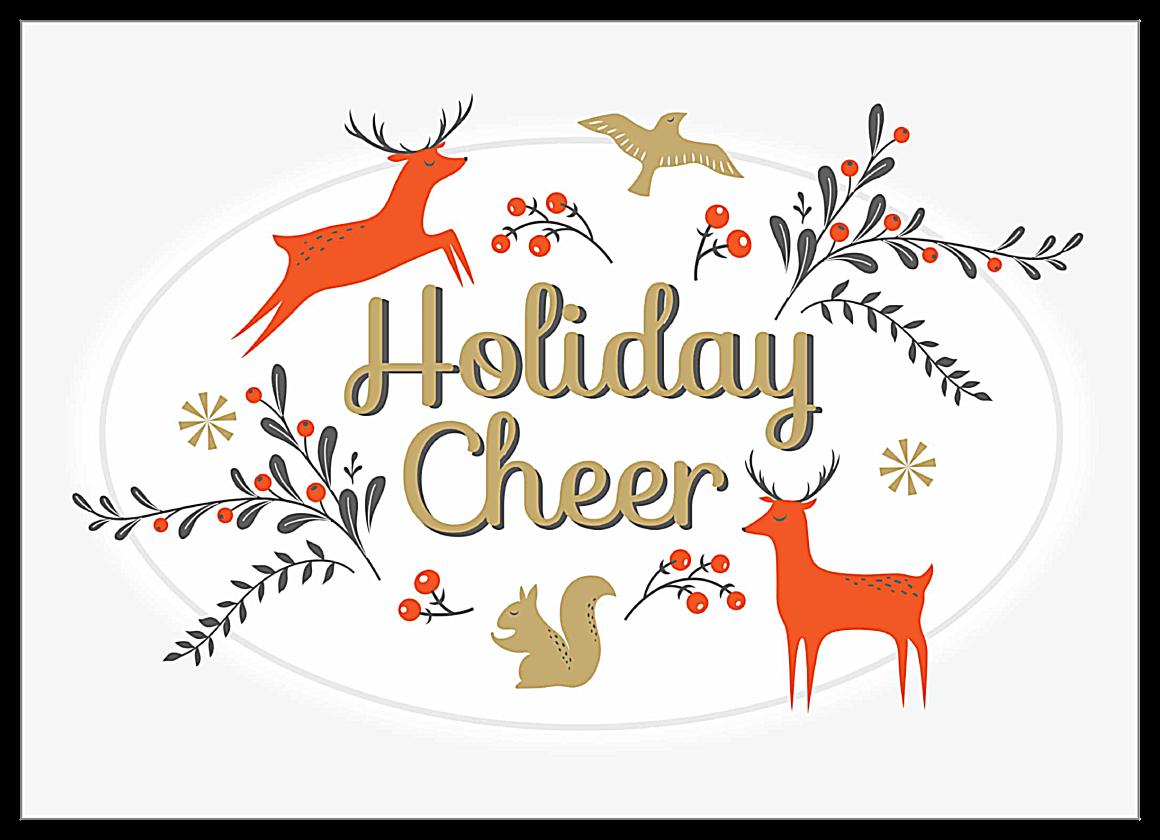 Holiday Deer front - Invitation Cards Maker