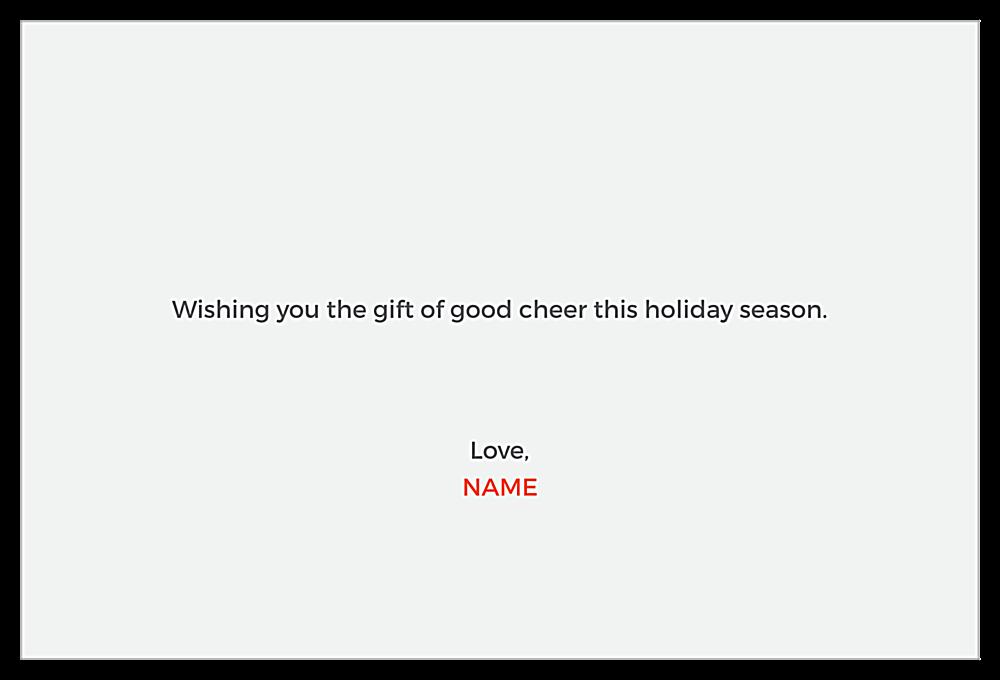 Holiday Deer back - Invitation Cards Maker