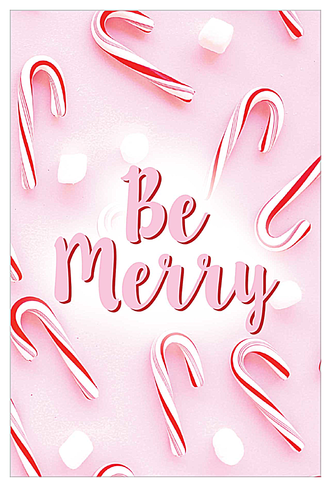 Merry Peppermint front - Invitation Cards Maker