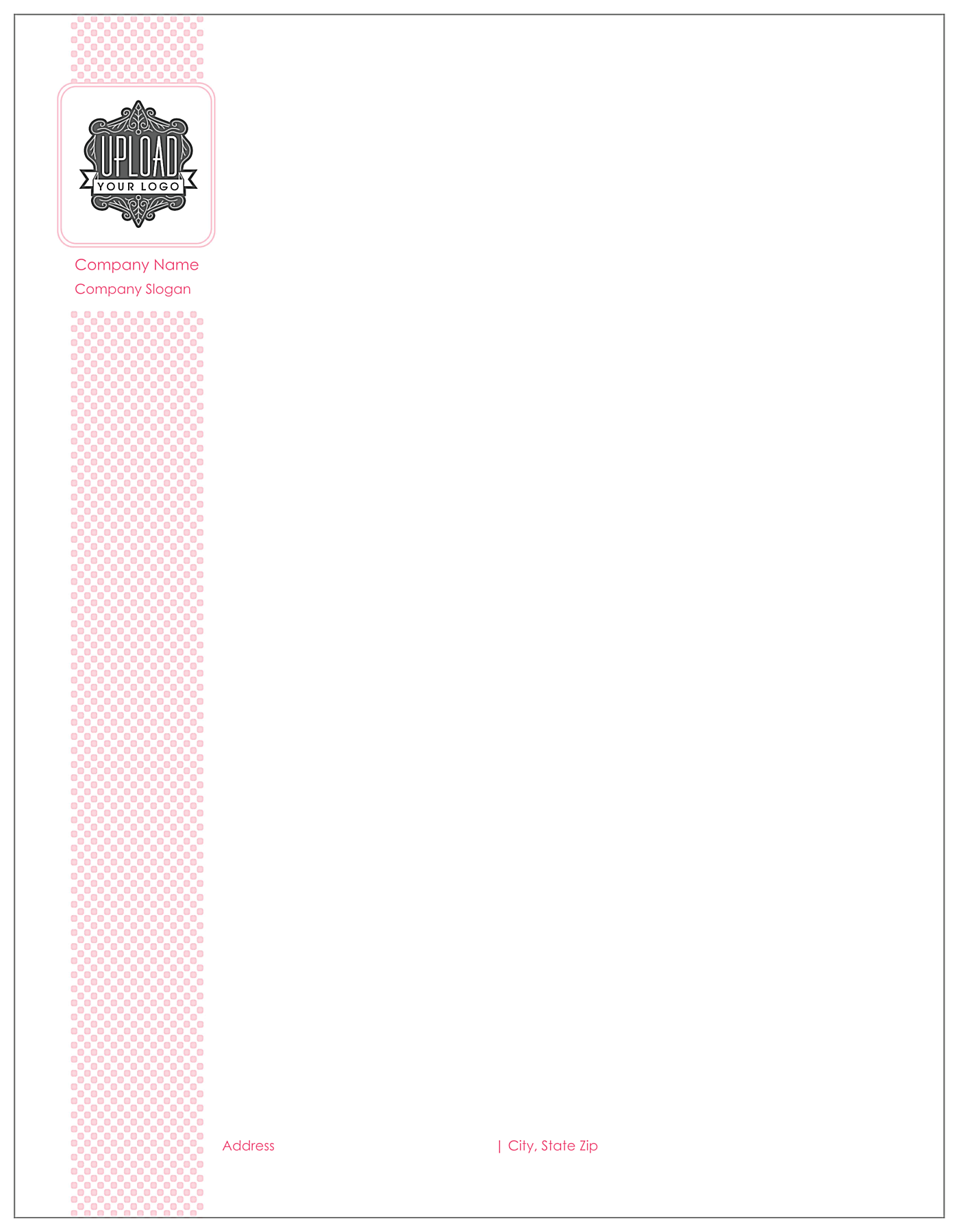Halftone Dots front - Letterhead Maker