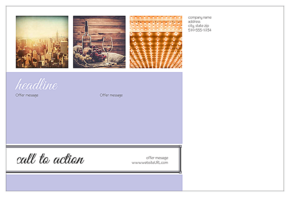 Print Custom Stickers with Our Art Deco Design Template back - Postcards Maker