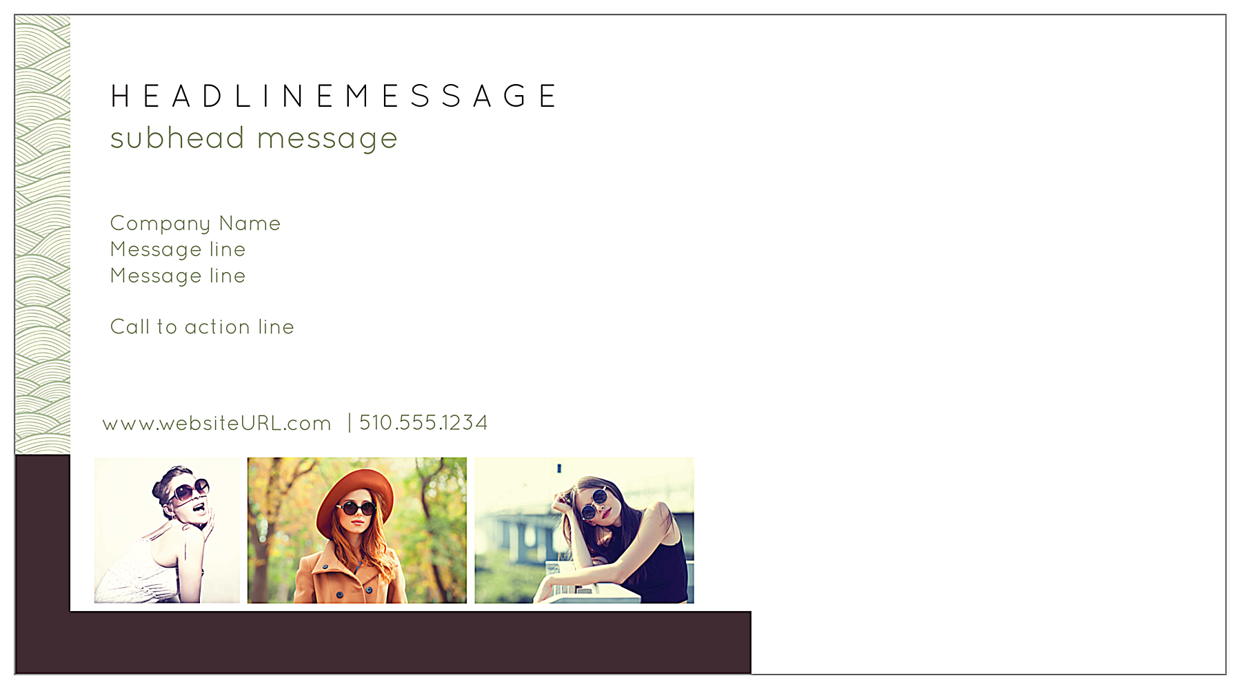 Print Custom Postcards with Our Wavy Sale Design Template back - Postcards Maker