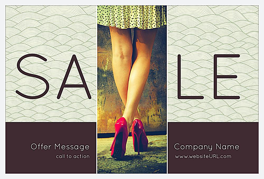Wavy Sale front - Postcards Maker