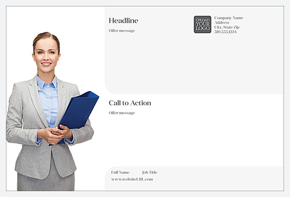 Customize Our Gray Suit Postcard Design Template back - Postcards Maker