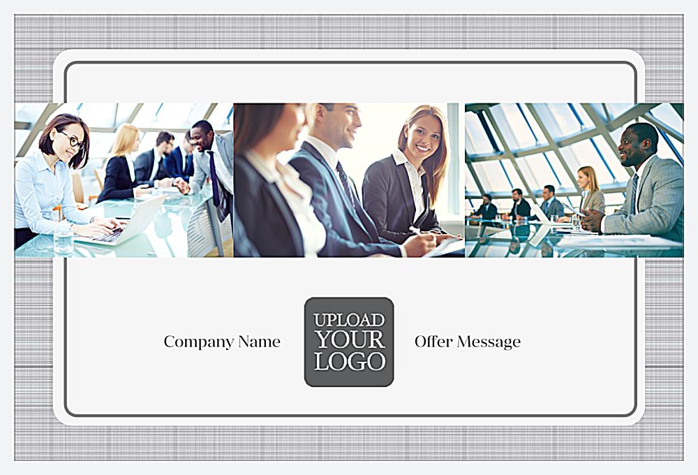 Customize Our Gray Suit Postcard Design Template front - Postcards Maker