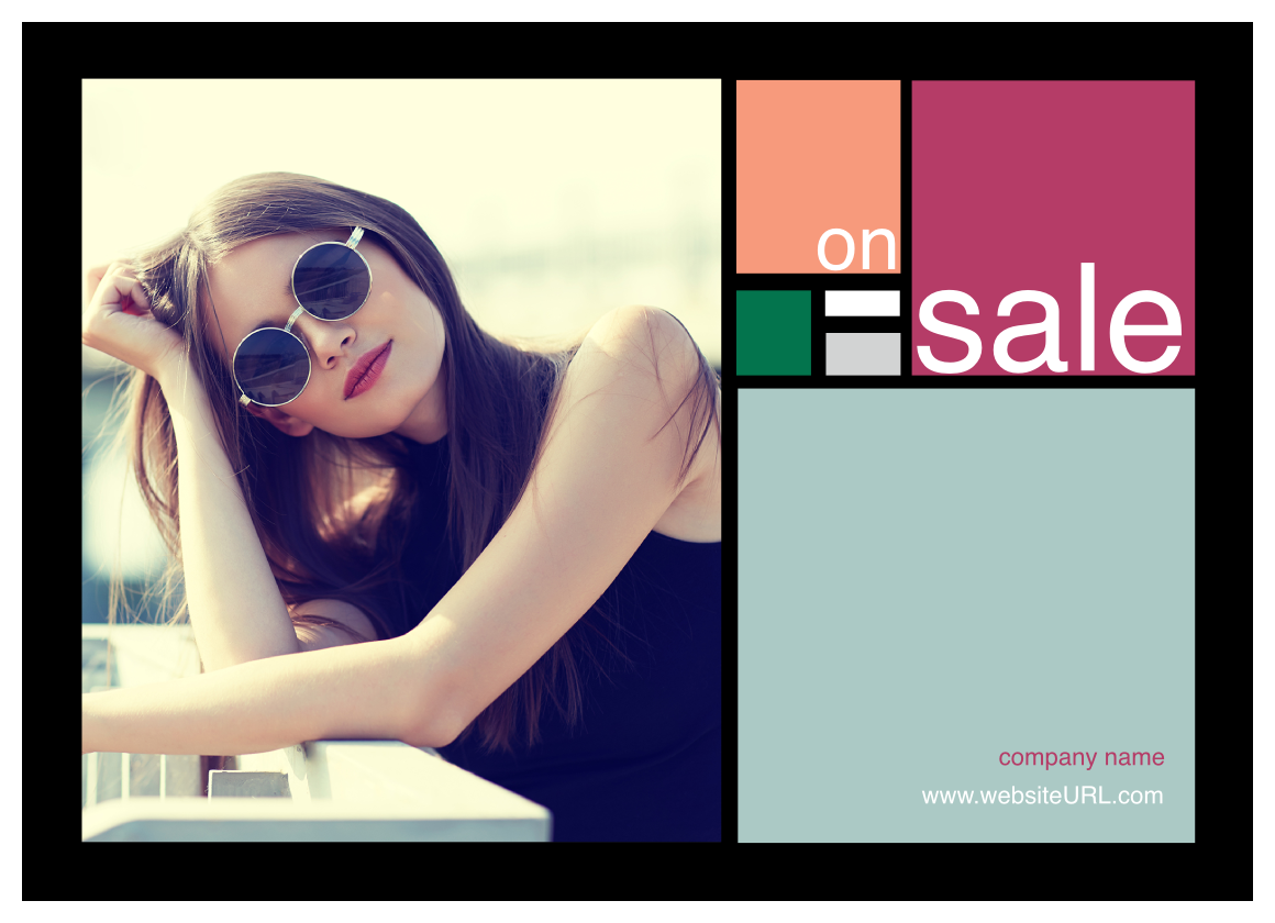 Colorful Squares front - Postcards Maker