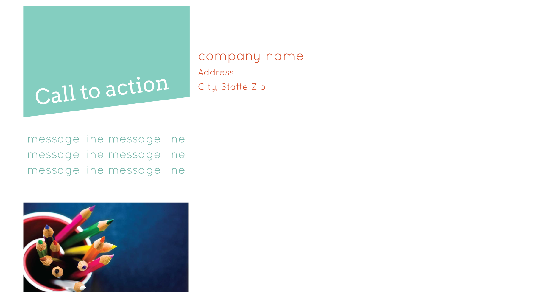 Print Custom Postcards with Our Tilted Fun Template back - Postcards Maker
