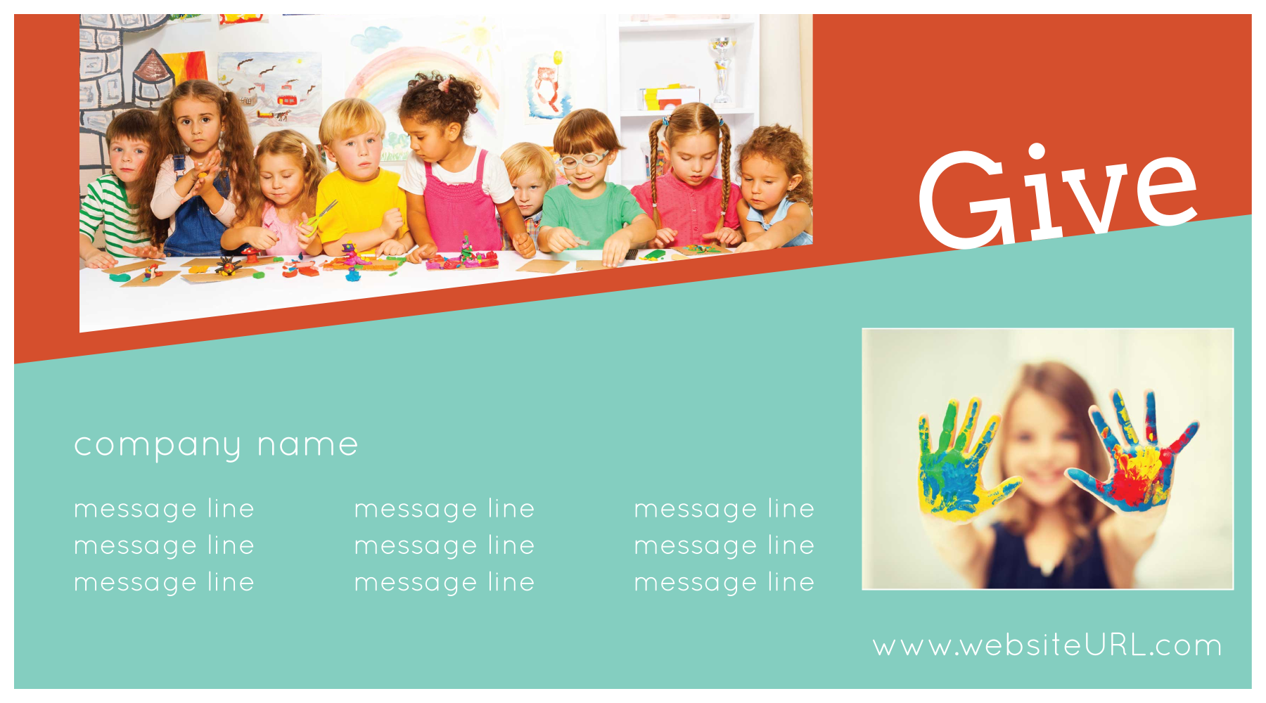 Print Custom Postcards with Our Tilted Fun Template front - Postcards Maker