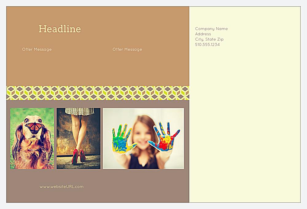 Customize Our Cubic Borders Postcard Design Template back - Postcards Maker