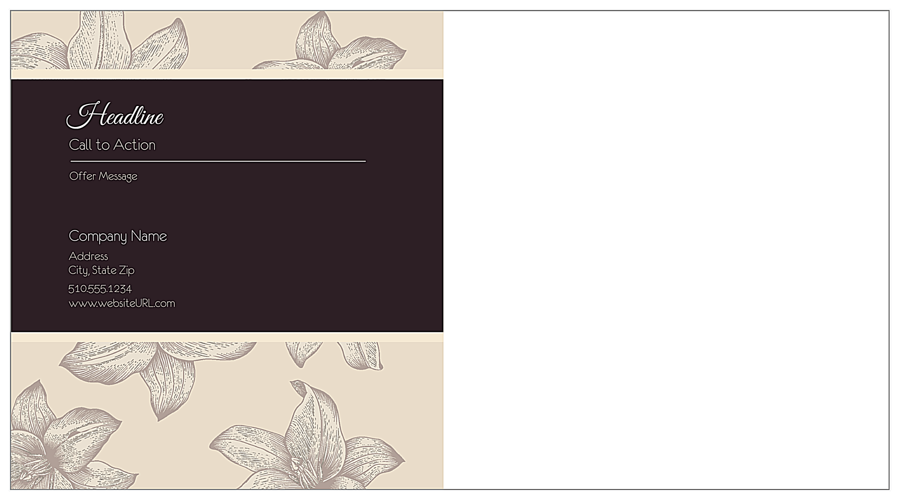 Customize Our Wining and Dining Postcard Design Template back - Postcards Maker