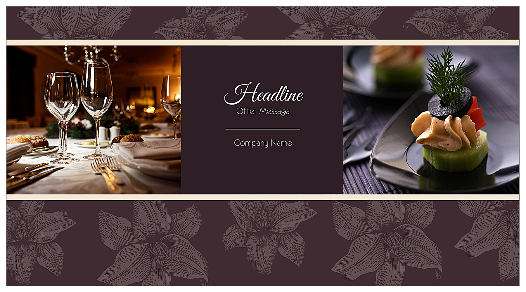 Customize Our Wining and Dining Postcard Design Template front - Postcards Maker