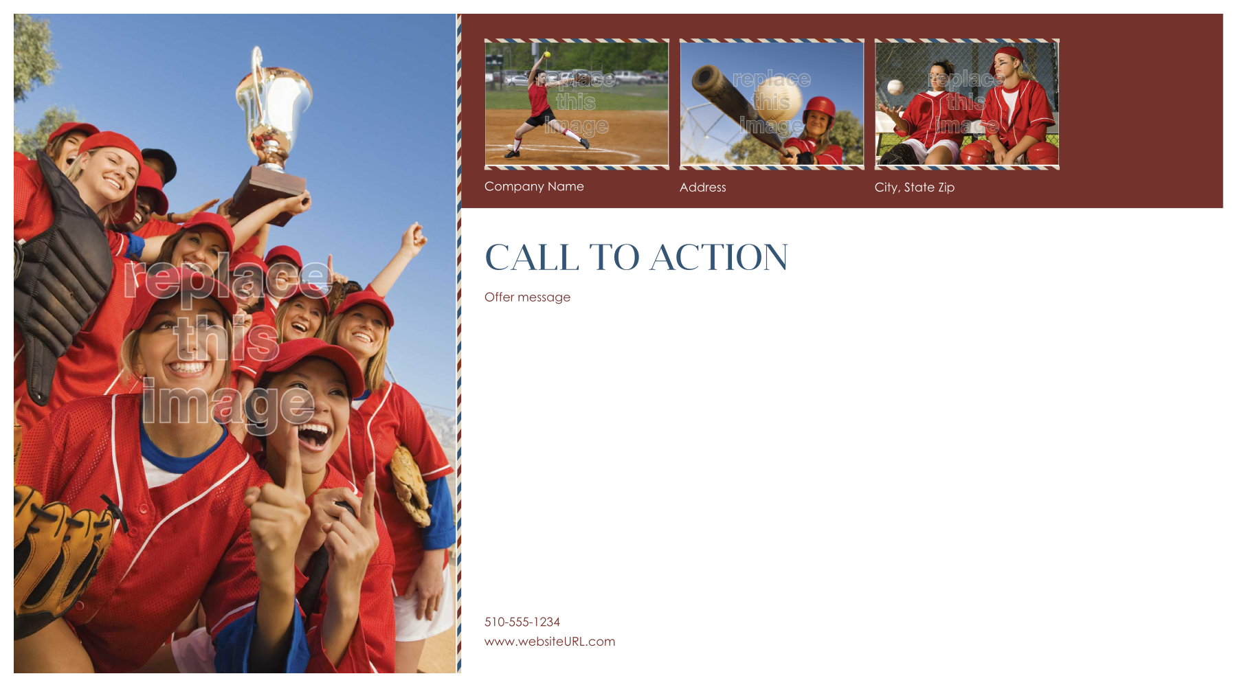 Customize Our Team Spirit Postcard Design Template back - Postcards Maker