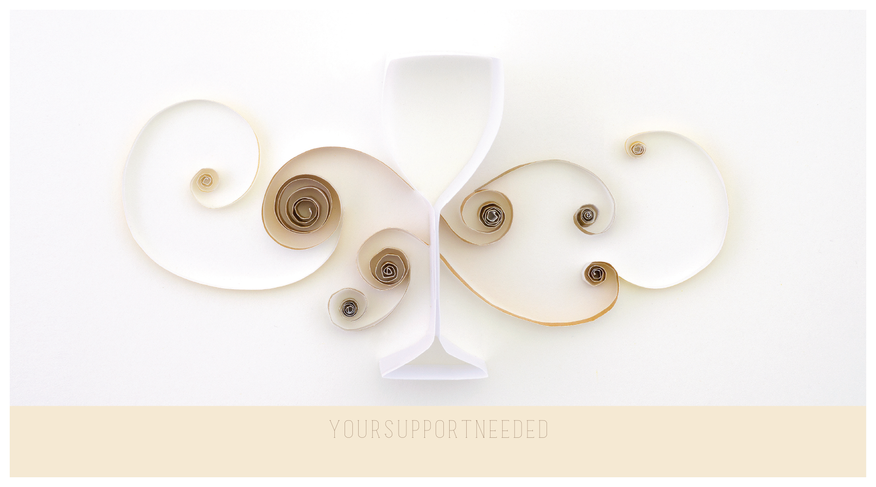 Customize Our Quilling Wine Glass Postcard Design Template front - Postcards Maker