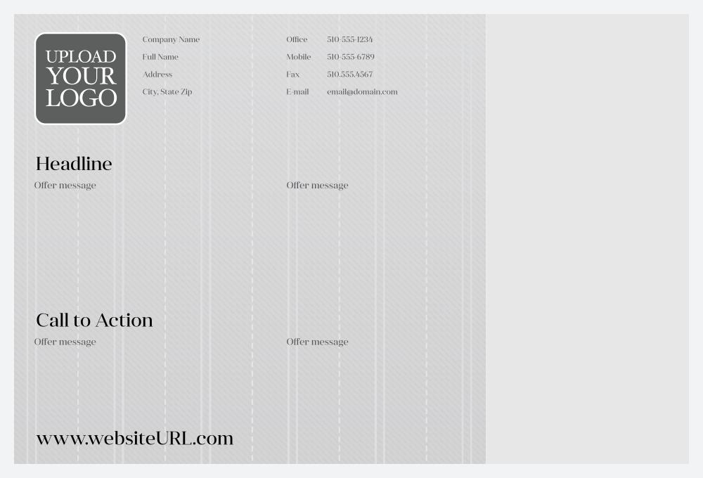 Customize Our Pin-Striped Suit Postcard Design Template back - Postcards Maker