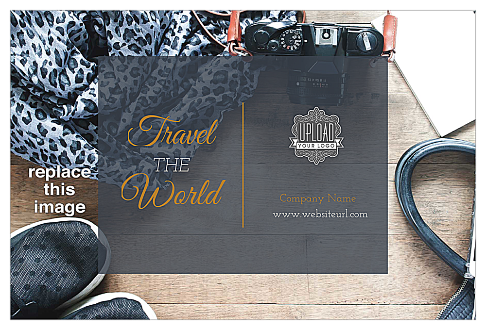 Travel the World front - Postcards Maker