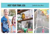 Small Town Tourism - postcards Maker