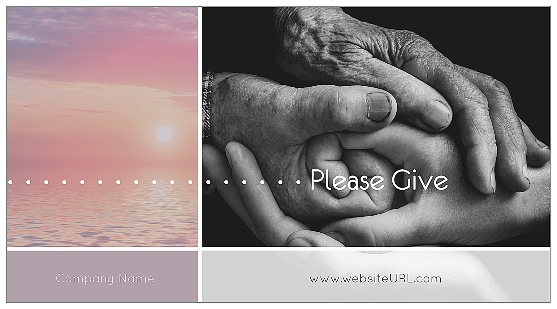 Print Custom Postcards with Our Giving Hands Template front - Postcards Maker
