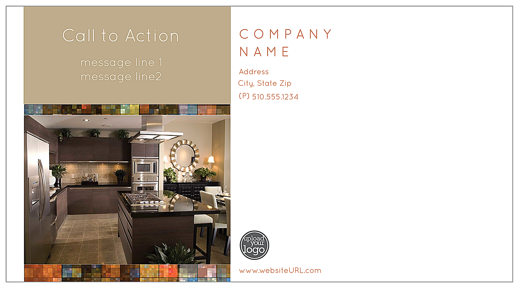 Mosaic Luxury back - Postcards Maker