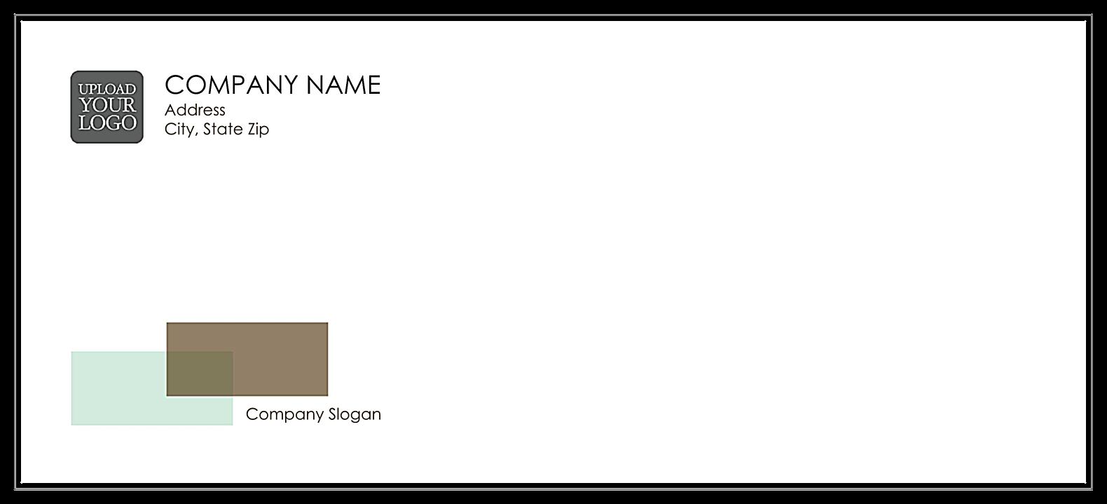 Overlap Rectangles front - Standard Envelopes Maker