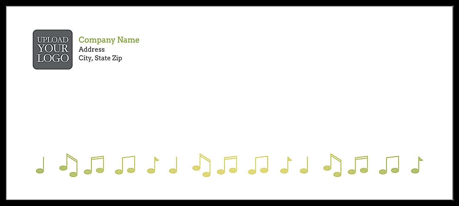 Music Notes front - Standard Envelopes Maker