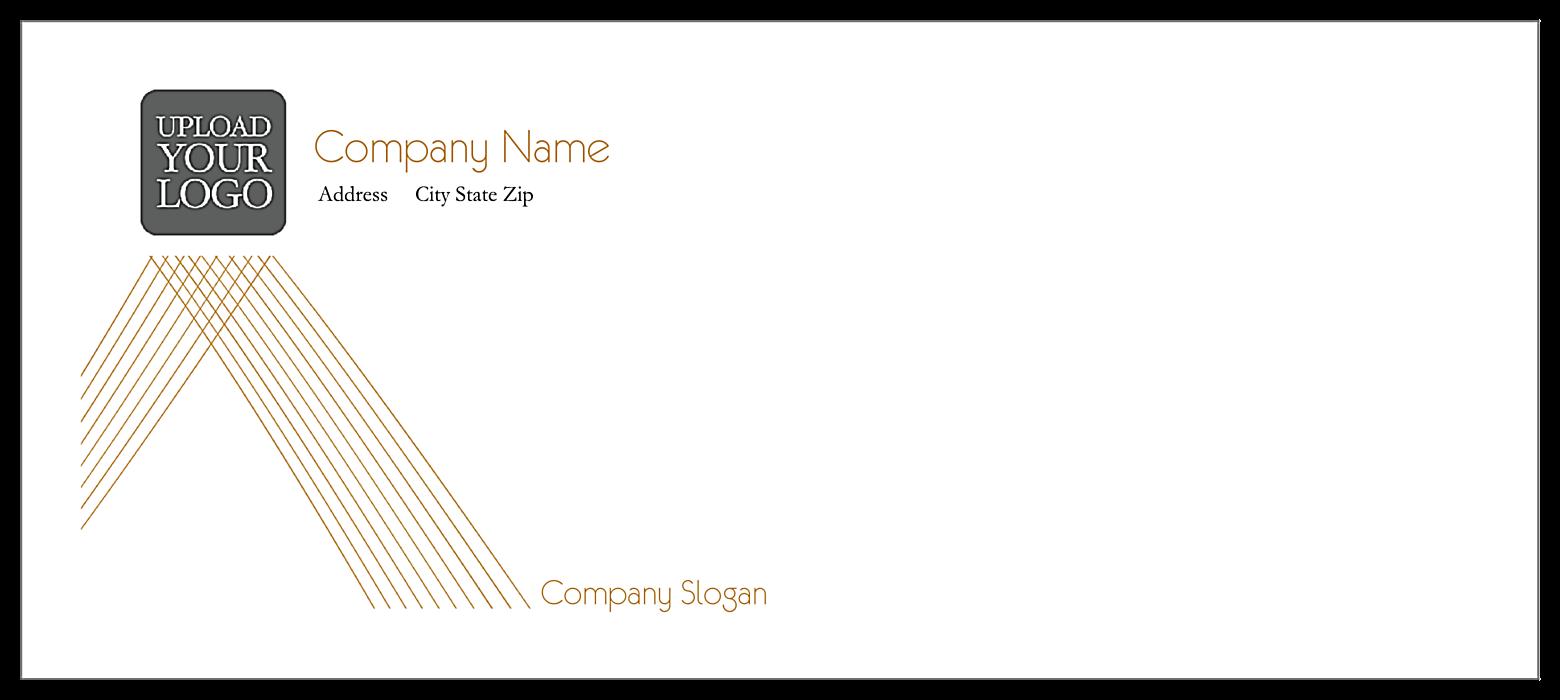 Crossed Lines front - Standard Envelopes Maker