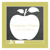 White Apple - stickers-labels Maker