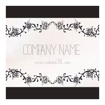 Customize Our Ornate Border Sticker Design Template front - Stickers Maker