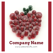 Quilling Apple - stickers-labels Maker