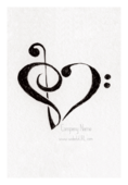 Clef Heart - stickers-labels Maker