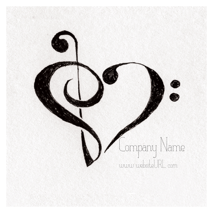 Clef Heart front - Stickers Maker